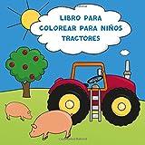 Libro para colorear para niños tractores
