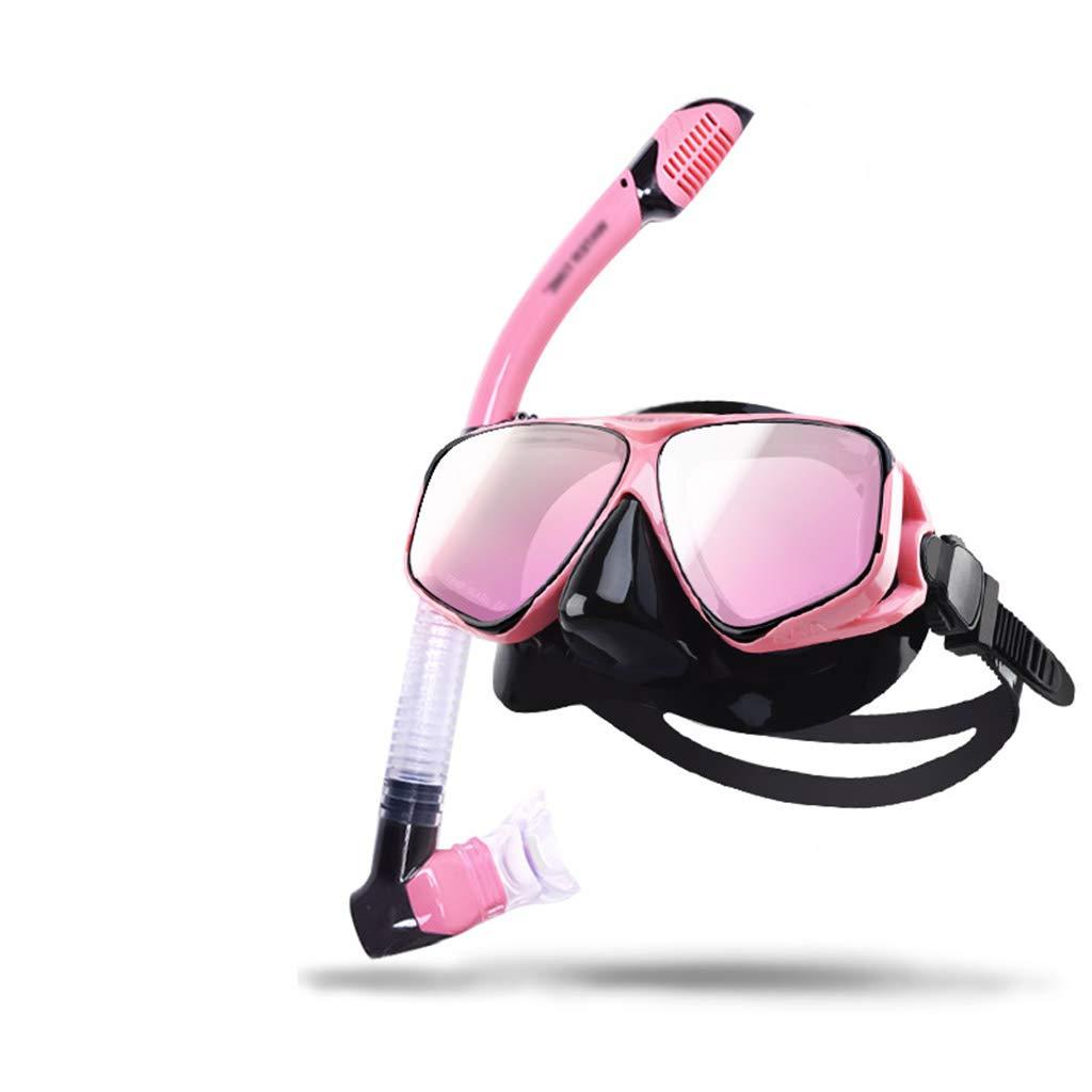 Conjunto de Snorkel de Primera Calidad, Revestimiento para Adultos, Snorkeling máscara de Buceo, Vidrio Templado, Silicona, Gafas de natación, máscara, Conjunto de Snorkel, protección UV,Blackpink: Amazon.es: Deportes y aire libre