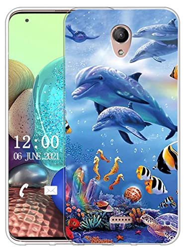 Sunrive Kompatibel mit Wiko U Feel Fab Hülle Silikon, Transparent Handyhülle Schutzhülle Etui Hülle (X Wal)+Gratis Universal Eingabestift MEHRWEG