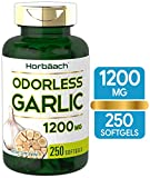 Best Garlic Supplements - Odorless Garlic Softgels | 1200 mg | 250 Review