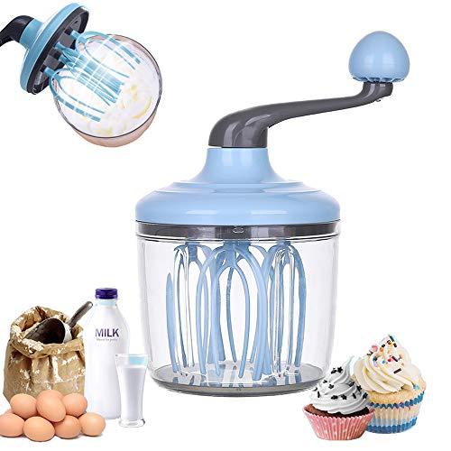 HARVESTFLY Schneebesen Manueller Ei Milchaufschäumer Mixer Rotary Egg Beater Egg Mixer Milchshake Mixer Backenwerkzeuge Küchenutensilien
