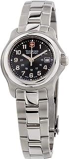 ساعة فيكتورينوكس سويسرية مينا سوداء سوار ستانلس ستيل للنساء 251033