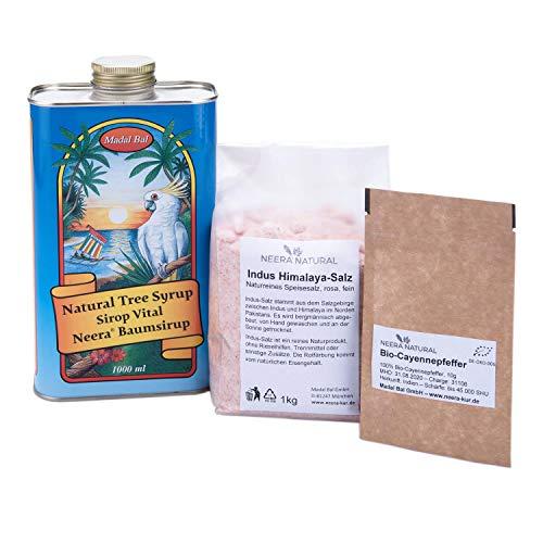 NEERA-Zitronensaft-Kur Fasten-Kur-Paket für 5-7 Tage inkl. Baumsirup, Cayennepfeffer und Himalayasalz aus der Salt Range Pakistans