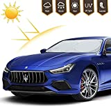 Car Windshield Sun Shade, Blocks UV Rays Foldable Sun Visor Protector, Sunshade to Keep Your Vehicle Cool and Damage Free,Easy to Use, Fits Windshields of Various Sizes