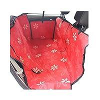 豪華な防水ペットカーシートカバーペットマットリアシートマット - 赤