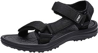 OULSON Men Fashion Sandals Summer Leisure Comfort Outdoor Walking Beach Sandals Velcro Sport Sandals For Men Size 40-45