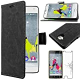 ebestStar - Coque Wiko U Feel Lite Etui PU Cuir Housse Portefeuille Porte-Cartes Support Stand, Noir + Film Protection...
