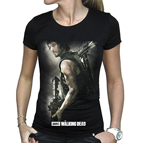 ABYstyle Abysse Corp_ABYTEX38908 Walking Dead - T-Shirt Daryl Armbrust Woman Ss - Basic, Schwarz (Black) , M