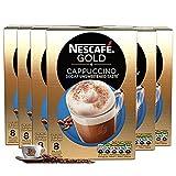NESCAFÉ Gold Cappuccino Decaffeinato Caffè senza zucchero, 8 Bustine, (Confezione da 6, totale 48 Bustine)