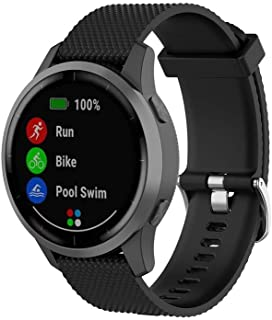 Klaas NIC 22mm Silicone Band for Samsung Galaxy Watch 46mm/Gear S3 Classic/Frontier,Quick Release Strap for Women Men Amazfit Pace/GTR 47MM/Huawei 2/Fossil Q/Pebble Time Smart Watch