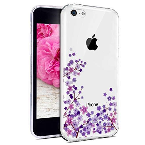 JAWSEU Funda Compatible con iPhone 5C Transparente Suave TPU Silicona Gel Parachoques...