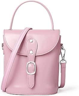ETH Simple and Versatile Compact Bills Shoulder Slung Leather Handbags Permanent (Color : Pink)