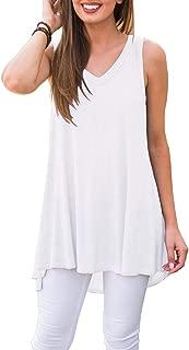 Best white sleeveless t shirt women's Reviews
