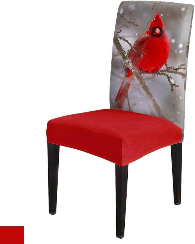6 Pack Stretch Printed Chair Covers Branch C Merry Bird 保障 Cardinal 正規激安