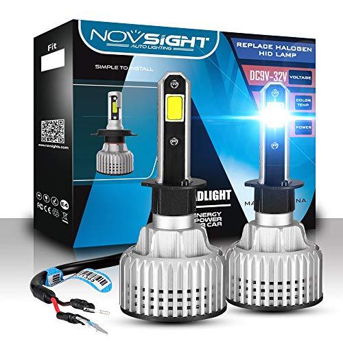 H1 H4 H7 H11 H13 LED de voiture ampoules de phare kit de conversion, Nighteye H4 LED de voiture ampoules de phare 9000lm Blanc froid LED Cree ampoules de phare de conduite automobile