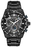 Citizen AT4007-54E - Reloj analógico de Cuarzo para Hombre, Correa de Acero Inoxidable Color Negro