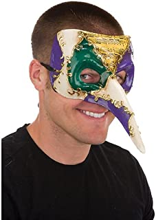 Jacobson Hat Company Men's Adult Long Nose Mardi Gras Mask
