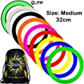 Mr Babache Pro Juggling Rings (Medium-32cm) + 1x Flames N Games Travel Bag per order. Top Quality Rings For Juggling Ideal For All Ages & Levels of Skill!PRICE IS PER RING. (Yellow) by Mr Babache / Flames N Games