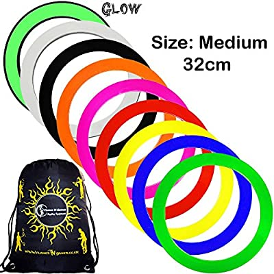 Mr Babache Pro Juggling Rings (Medium-32cm) + 1x Flames N Games Travel Bag per order. Top Quality Rings For Juggling Ideal For All Ages & Levels of Skill!PRICE IS PER RING. (Green) by Mr Babache / Flames N Games