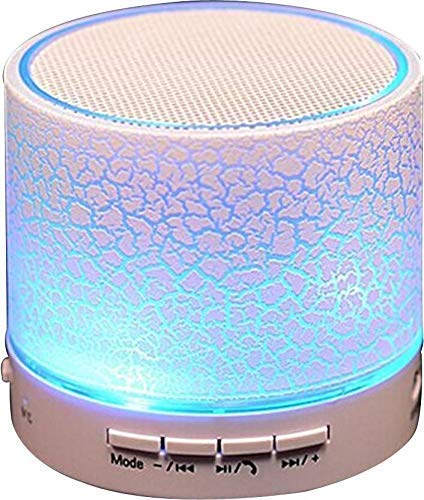 Earth Mart LED Bluetooth Mini Speakers with Hands-free Calling, FM Radio, Deep Bass Audio and SD Card Support (Multicolour) 1