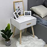 <span class='highlight'><span class='highlight'>LANKOU</span></span> Bedside Table with Drawer, Nightstand Lamp Desk for Bedroom,White