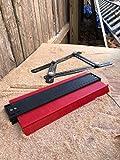 10 inch Contour Gauge Duplicator Bundle Kit with Multi Angle Measuring Ruler Aluminum Black Template By Alpha,Impact