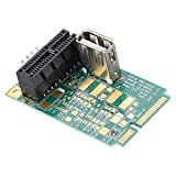 Zopsc Mini PCI-E to PCI Express 1X Slot Adapter Riser Card Test PCI-E 4X/8X/16X with ABS Material Compatiable with Multi-System. (Green)