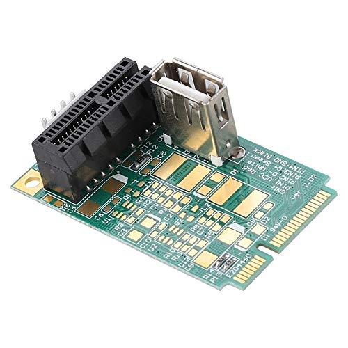 Diyeeni Mini PCI-E auf PCI Express PCI-E 1x Slot Adapterkarte, MPCIe zu PCIe Konverter Karte, für PCI-e 4X / 8X / 16X Karten/USB Geräte