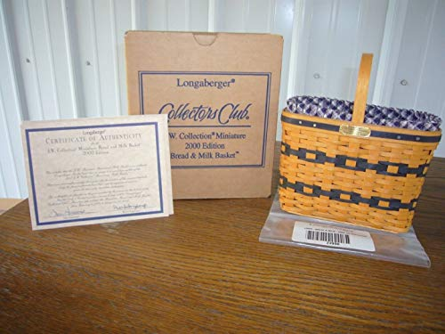 Longaberger 2000 J.W. Collection Miniature Edition Bread and Milk Basket