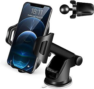 Supporto Cellulare Auto Smartphone per Cruscotto e Parabrezza Porta Cellulare da Auto per Molti 3 in 1 Supporto Smartphone...