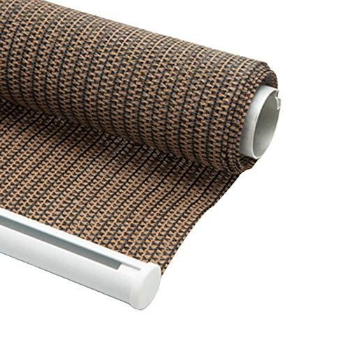 JIAYUAN Roller Esterno Shades, HDPE 95% Lega di Alluminio Rod Outdoor Patio Gazebo Pergola Coperto Roll Up Shade, for Sdraio Gazebo Patio Back Yard 6 Misure (Color : Brown, Size : 1x1.8m 3.2x5.9ft)