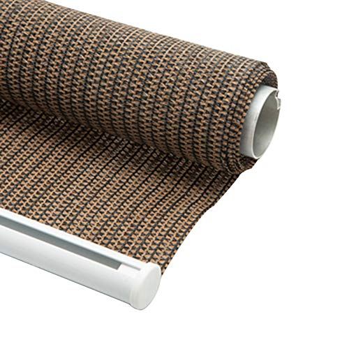 OuPai Sunblock Shade Cloth Outdoor Roller Shade Blinds, Exterior Roller Shade Outdoor Roll Up Shades for Porch Pergola Patio Deck Balcony Carport Yard with 90% UV Protection Privacy with Grommets