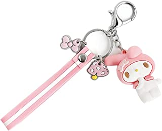 EOGAIL Cartoon Kuromi My Melody Keychain Accessories Doll Pendant Anime Keychain Cute Doll Keyring Ornaments Small Gift (M...
