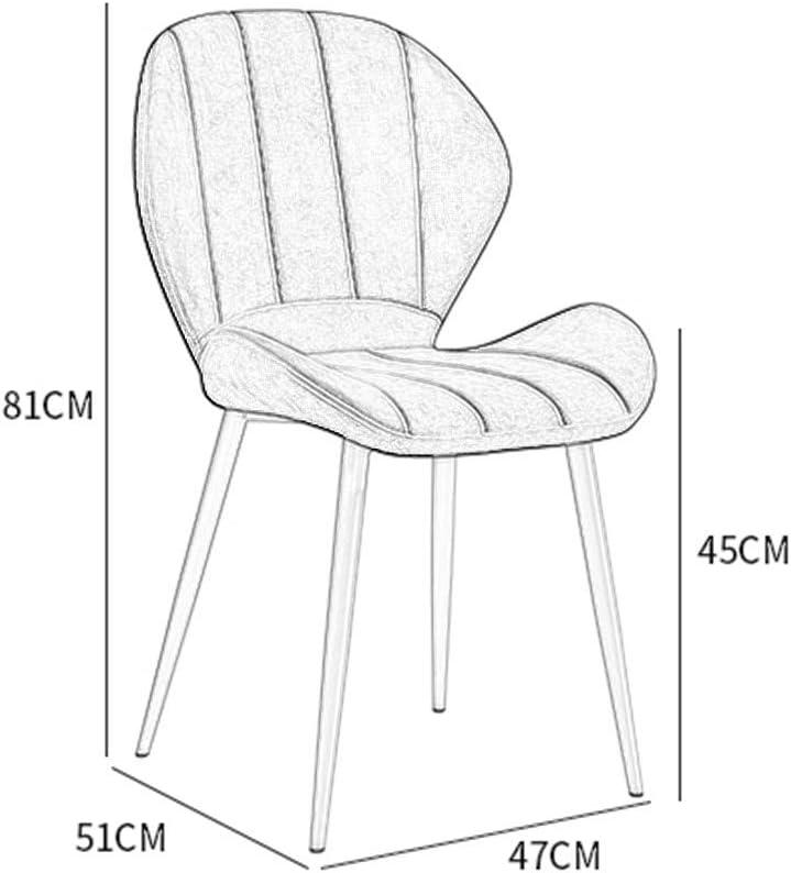 LSRRYD Chaise De Salle À Manger Chaises De Cuisine Rembourrée En PU Pied En Métal Le Salon Chaise De Bureau Lounge (Color : Brown) Black