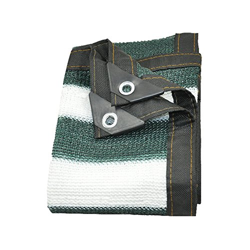 Wangjunxiu Netting Shade 70% – 90% Sunblock stof – UV-lak wit groen robuuste stof mesh tarp net tuin 3*3m Green+white