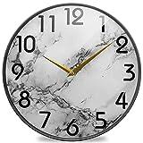 Shutterstock_594802652 Reloj de Pared Redondo con impresión, silencioso Reloj de Escritorio silencioso analógico de Cuarzo con Pilas para el hogar, la Oficina, la Escuela, la Biblioteca