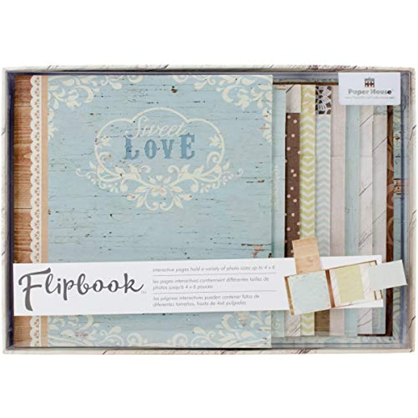 Paper House Productions FB-0004E Flipbook Interactive Album, Wedding Day
