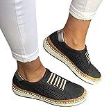 Gizayen Women Slip On Hollow out Flat Shoes Round Toe Anti-Slip Breathable Casual Sneakers, Women's Denim Canvas Lok Fu Shoes Single Shoes Casual Shoes Lazy Shoes Flat Sports Shoes