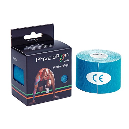 PhysioRoom Sports Performance Kinesiology Tape (Blue) 5cm x 5m - Pack of 6