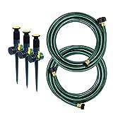 Melnor 95548-IN Multi-Adjustable Garden Above Ground Sprinkler System, Watering Set