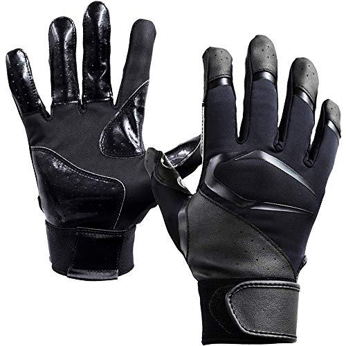 Cutters(カッターズ) 野球 手袋 バッティング グローブ B442S パワーコントロール3.0 ソリッド L BK