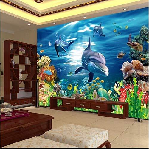 Fotobehang Fotobehang Thuis Aangepast Groot - Schaal muurschilderingen Mooie 3D Stereo Onderwater Wereld Achtergrond Muur Niet - Geweven Behang Papel de Parede