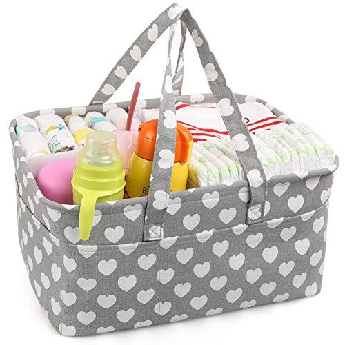 LinStyle Pañalera, Bolsa organizadora para pañales de bebé Organizador Portátil para Cambiar Pañales cesta de regalo para recién nacidos para pañales y toallitas