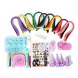 Kit de herramientas para filigranas de papel artesanales para principiantes, 18 tipos de herramientas y 900 tiras de papel todo en uno