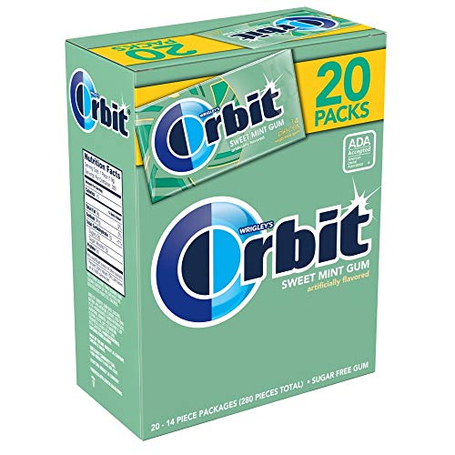 ORBIT Sugar Free Sweet Mint Chewing Gum, 14 Pieces (20 Packs)