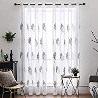 cortinas salon blancas 2 piezas