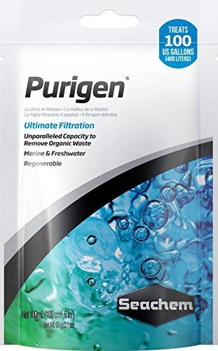 Seachem Purigen Filtermaterial für Aquarien Zierfische Beutel–Packung von 24x 100ml