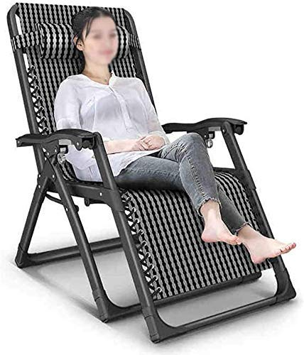 FTFTO Household Products Travel camping hammock Zero Gravity Recliner Folding Lounger Chair with Adjustable Headrest Support 300lbs for Patio Lawn Pool Z6D8Y3