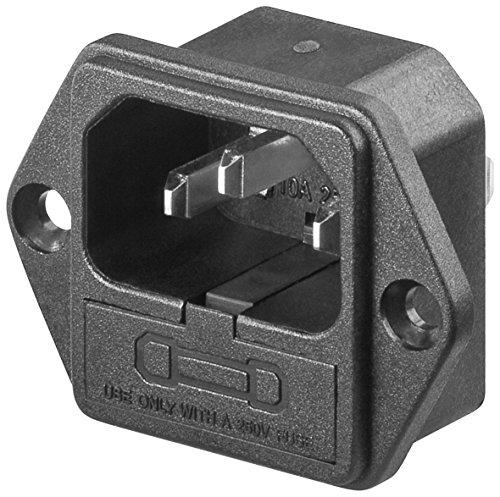 2er Set AC-Einbaustecker mit Sicherungshalter, Lötanschluß mit VDE [Elektronik]