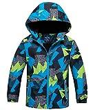 HuTuHu Softshell Coupe Vent Enfant Jacket Veste Coupe-Pluie Garçon Blouson de Ski...